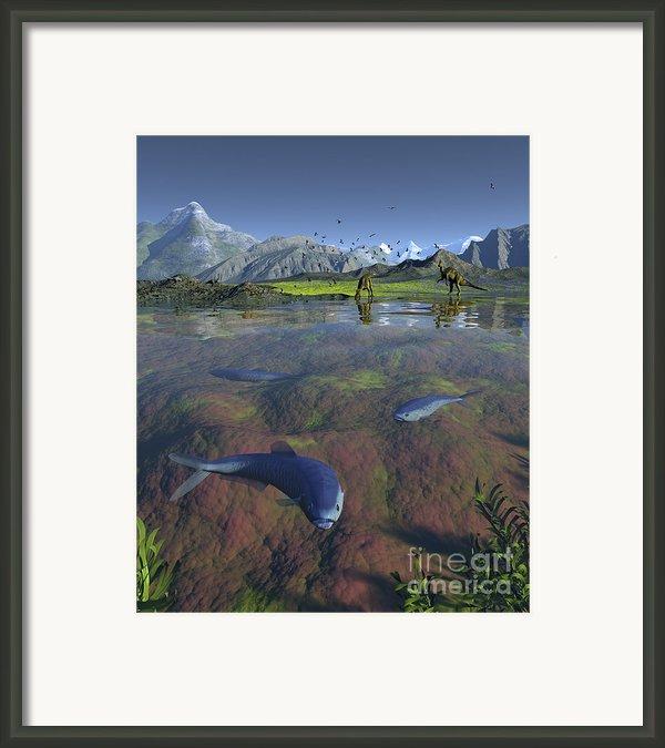 Fanged Enchodus Predatory Fish Framed Print By Walter Myers