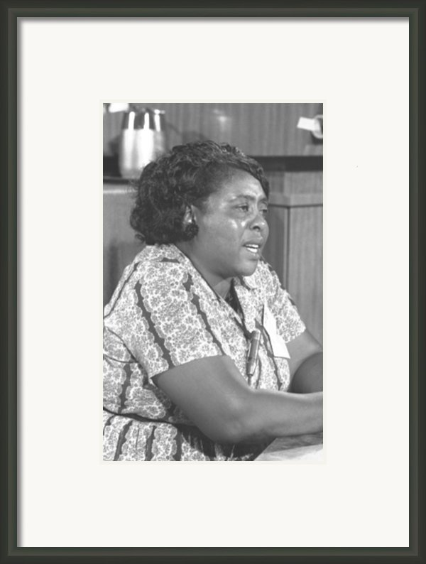 Fannie Lou Hamer 1917-1977 Framed Print By Everett