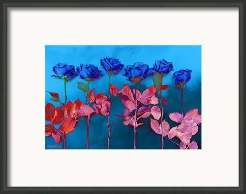 Fantasy Blues Framed Print By Michelle Wiarda