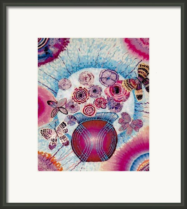 Fantasy Flowers Framed Print By Brenda Adams