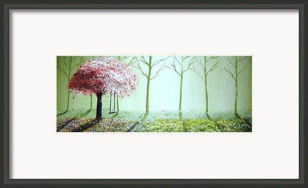 Fantasy Garden Framed Print By Edwin Alverio
