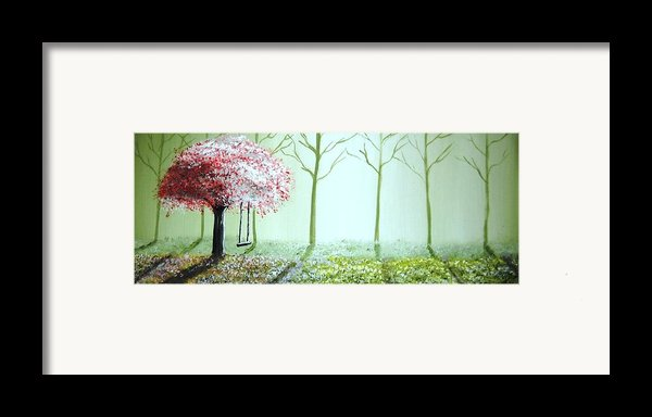 Fantasy Garden Framed Print By Edwin Alverio