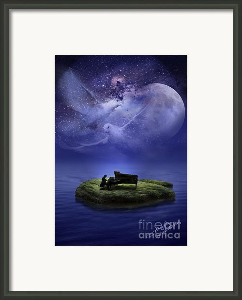 Fantasy Piano Framed Print By Pavlos Vlachos