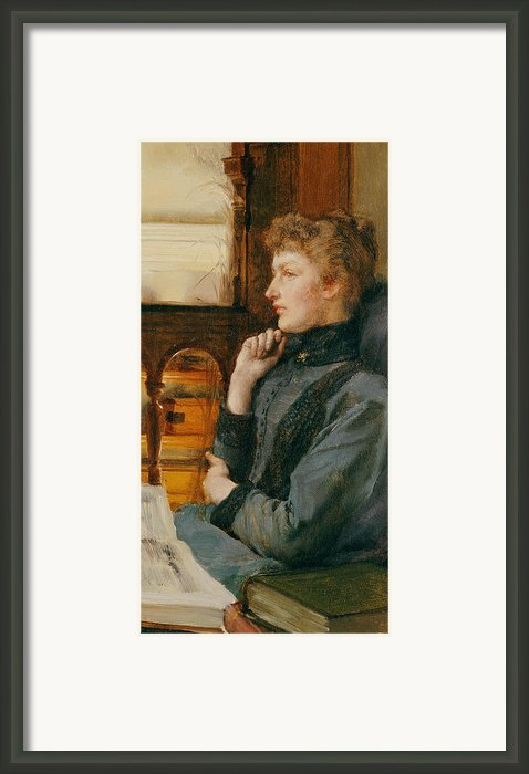 Far Away Thoughts Framed Print By Sir Lawrence Alma-tadema