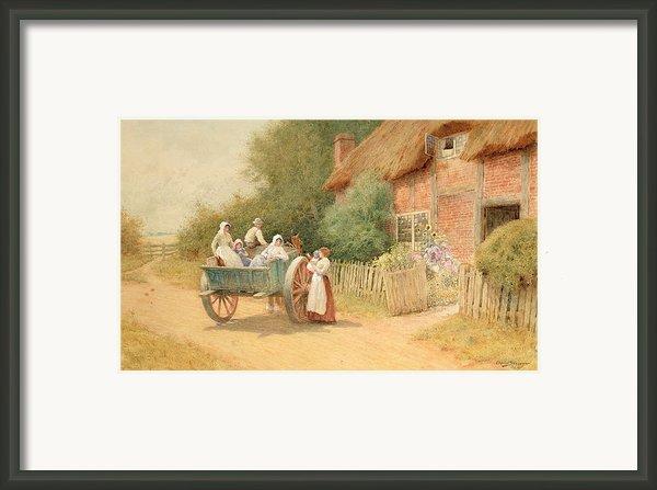Farewell Framed Print By Arthur Claude Strachan