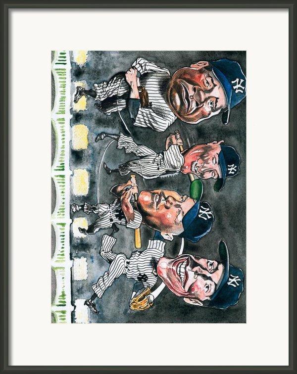 Farewell Yankee Stadium Framed Print By Robert  Myers