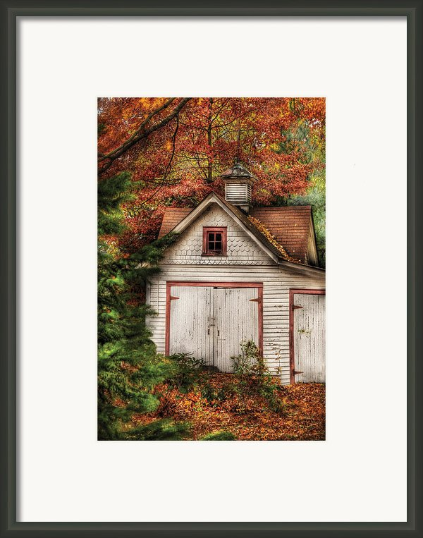 Farm - Barn - Our Old Shed Framed Print By Mike Savad