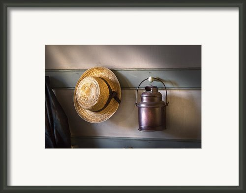 Farm - Tool - The Coat Rack Framed Print By Mike Savad