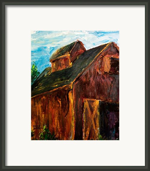 Farm Barn Framed Print By Scott Nelson
