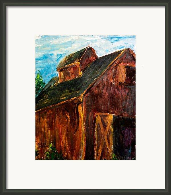 Farm Barn Framed Print By Scott Nelson