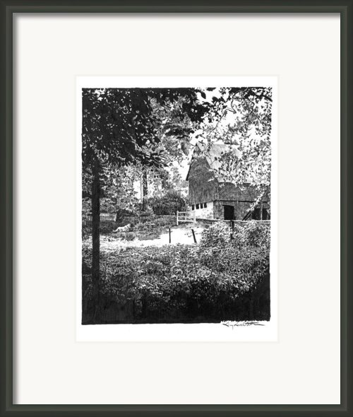 Farm In Illinois Framed Print By Gary Gackstatter