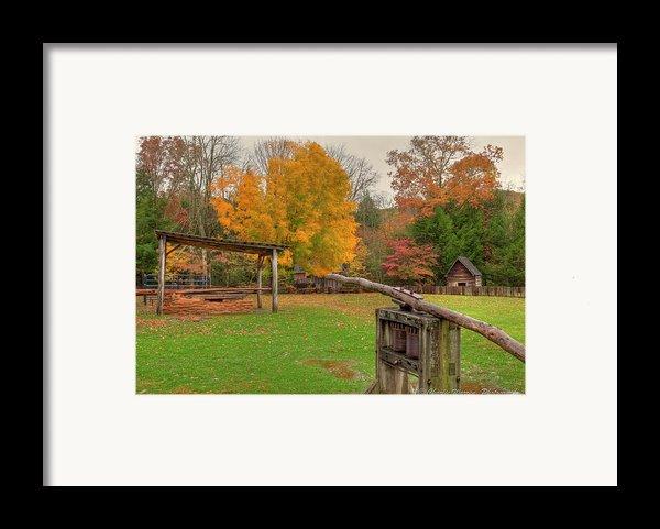 Farm Iv Framed Print By Charles Warren