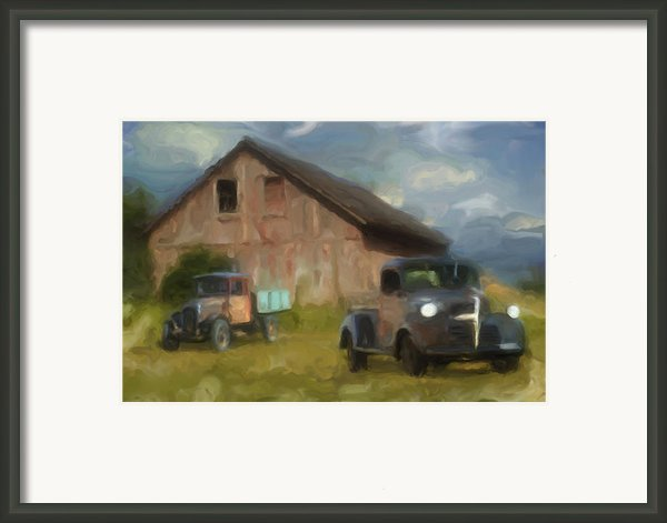 Farm Scene Framed Print By Jack Zulli