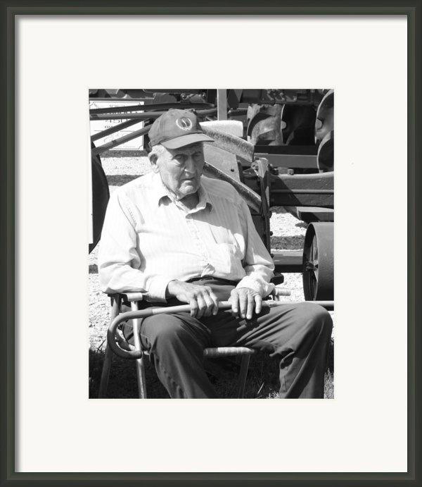 Farmer Framed Print By Ralph Hecht
