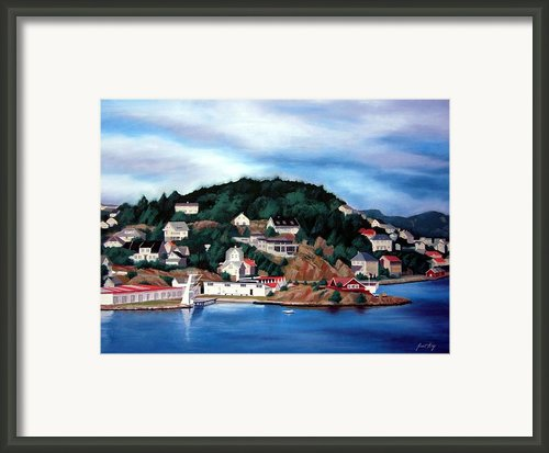 Farsund Badehuset Framed Print By Janet King