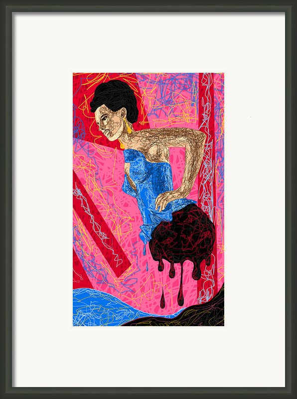 Fashion Abstraction De Angela Balderston Framed Print By Kenal Louis