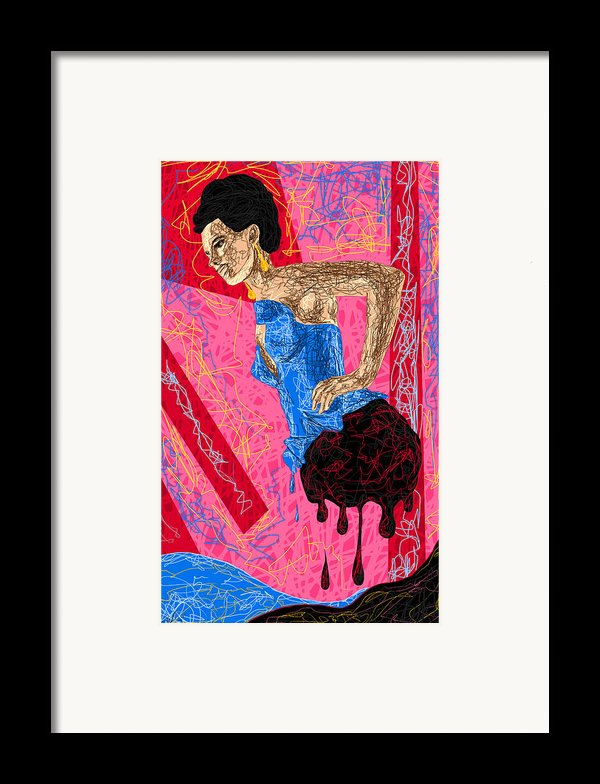 Fashion Abstraction De Angela Balderston Framed Print By Kenal Louis