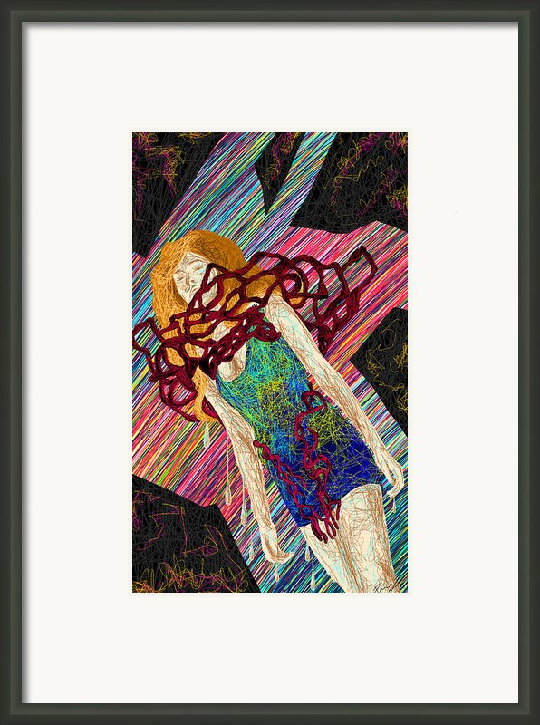 Fashion Abstraction De Dan Richters Framed Print By Kenal Louis