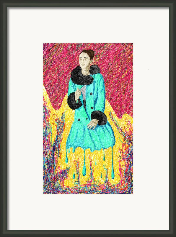 Fashion Abstraction De Eliana Smith Framed Print By Kenal Louis