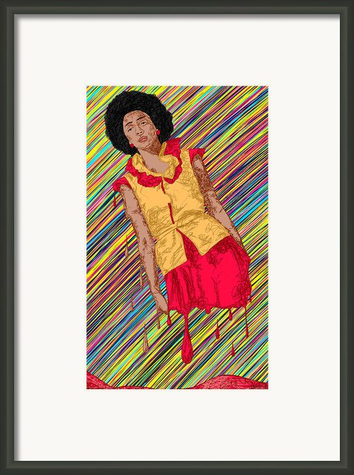 Fashion Abstraction De Fella Framed Print By Kenal Louis