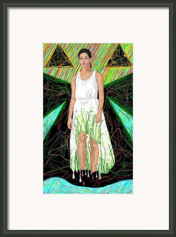 Fashion Abstraction De Jeff Hanson Framed Print By Kenal Louis