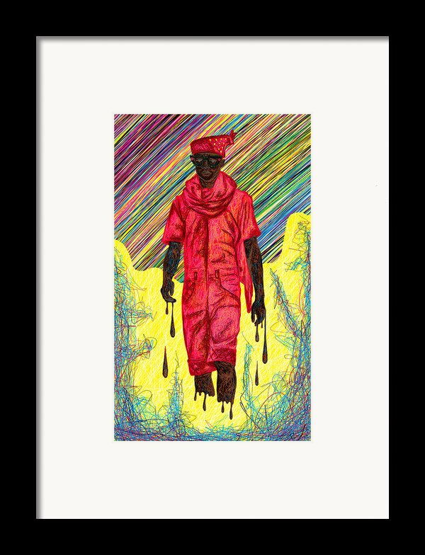Fashion Abstraction Of Audio Helkuik Framed Print By Kenal Louis