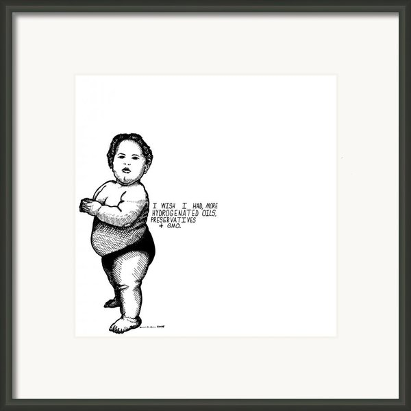 Fat Baby Framed Print By Karl Addison