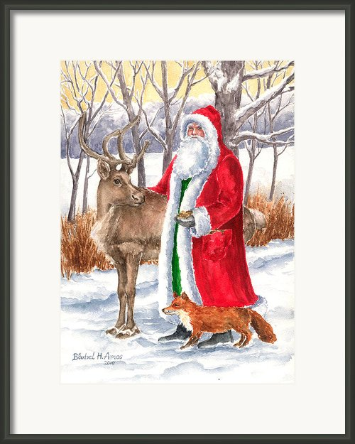 Father Christmas Framed Print By Barbel Amos
