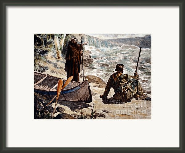 Father Louis Hennepin Framed Print By Granger