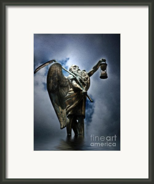 Father Time  Framed Print By Linda Matlow