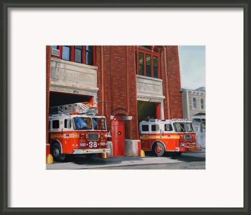 Fdny Engine 88 And Ladder 38 Framed Print By Paul Walsh
