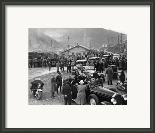 Fdr Inspect Norris Dam Construction Framed Print By Everett