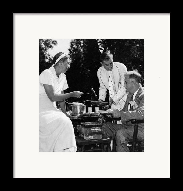 Fdr Presdidency. First Lady Eleanor Framed Print By Everett