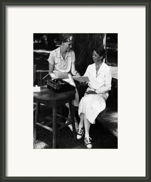 Fdr Presidency. Daughter Of First Lady Framed Print By Everett