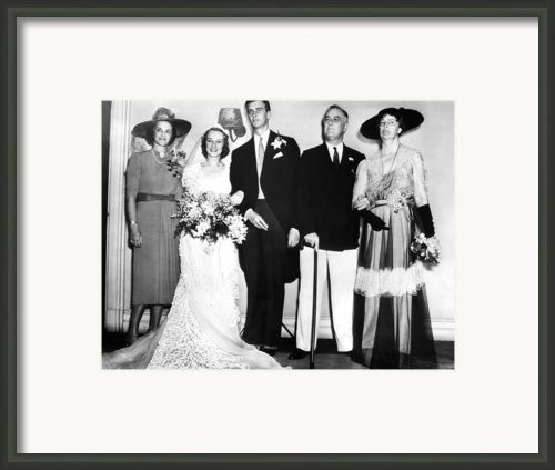 Fdr Presidency. From Left Francis Framed Print By Everett