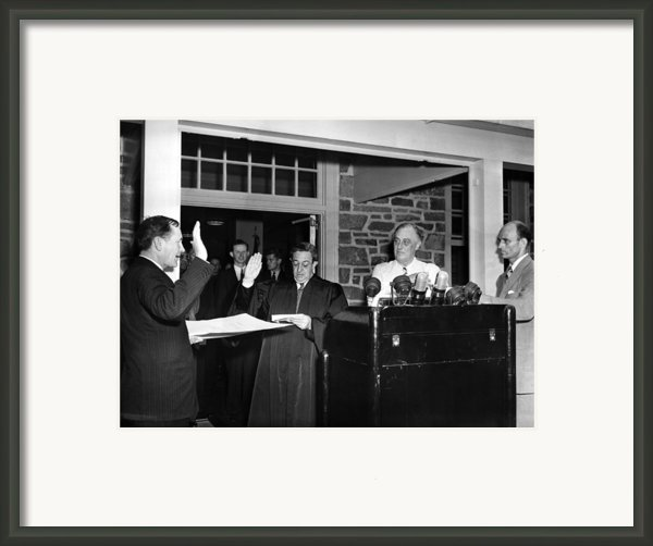 Fdr Presidency.  From Left Samuel Eliot Framed Print By Everett