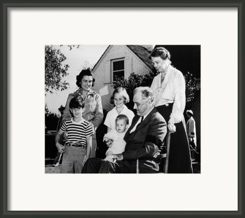 Fdr Presidency. Front Row, From Left Framed Print By Everett