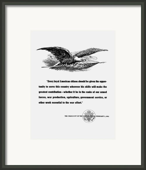 Fdr War Quote Framed Print By War Is Hell Store