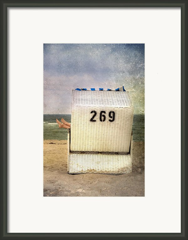 Feet And Beach Chair Framed Print By Joana Kruse