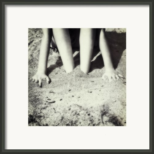 Feet In The Sand Framed Print By Joana Kruse