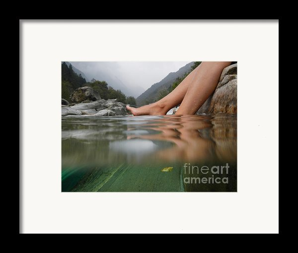 Feet On The Water Framed Print By Mats Silvan