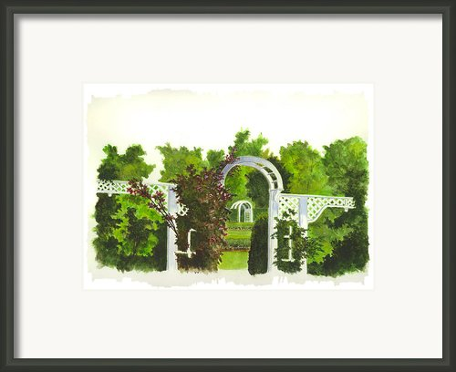 Fellows Riverside Gardens - Mill Creek Park Framed Print By Michael Vigliotti