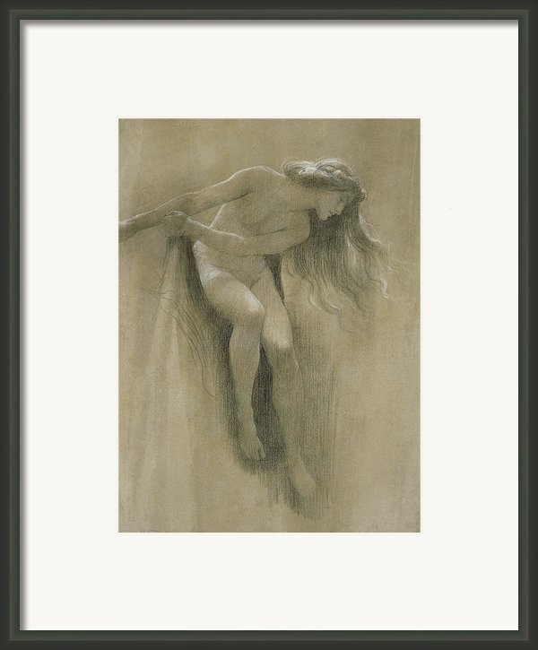 Female Nude Study  Framed Print By John Robert Dicksee