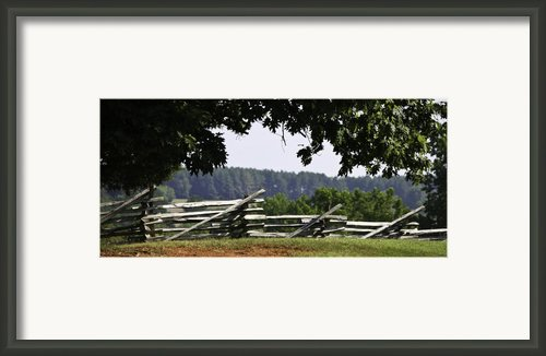 Fence At Appomattox Framed Print By Teresa Mucha