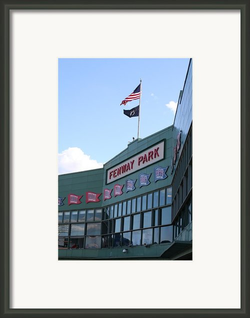 Fenway Park Centennial Framed Print By Loud Waterfall Photography Chelsea Sullens