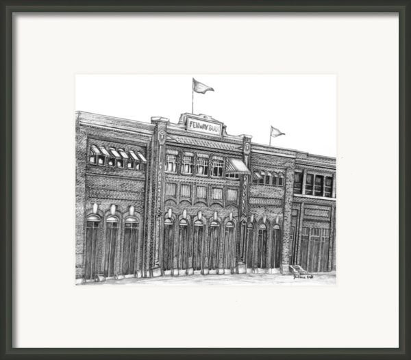 Fenway Park Framed Print By Juliana Dube