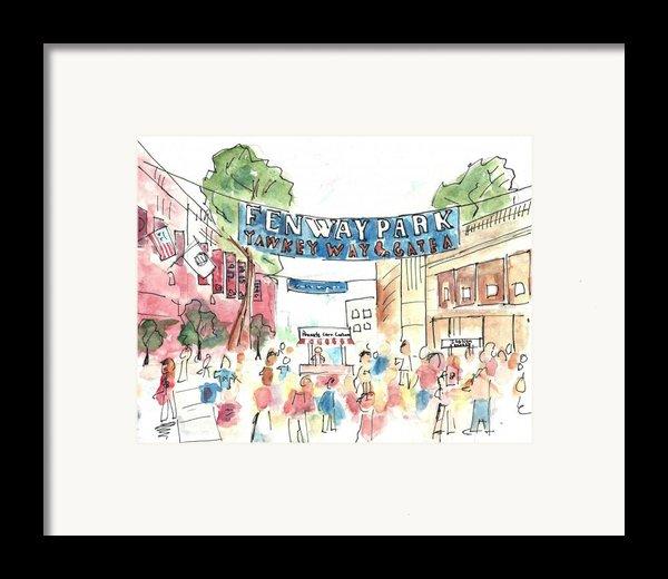 Fenway Park Framed Print By Matt Gaudian