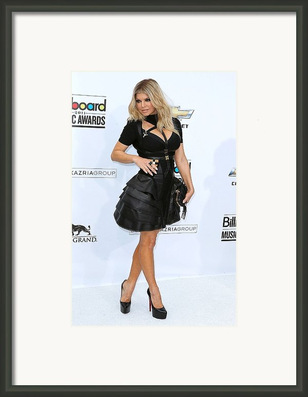 Fergie Wearing A Herve Leger By Max Framed Print By Everett