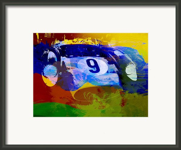 Ferrari Testarossa Watercolor Framed Print By Irina  March