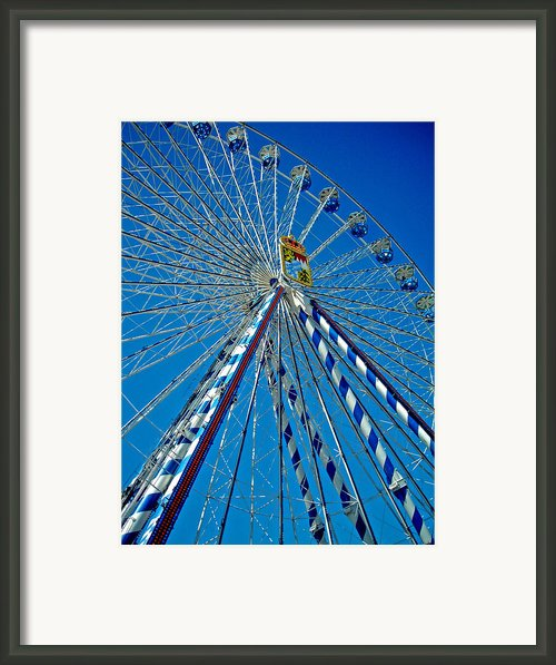 Ferris Wheel - Nuremberg  Framed Print By Juergen Weiss